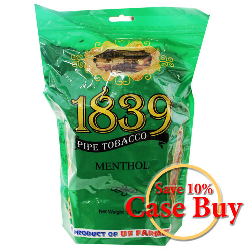 1839 Menthol Virginia Pipe Tobacco 16oz Green Bag - 12ct Case