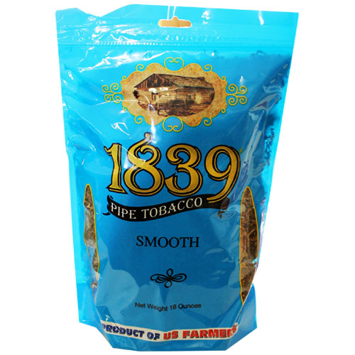 1839 Smooth Virginia Pipe Tobacco 16oz Blue Bag