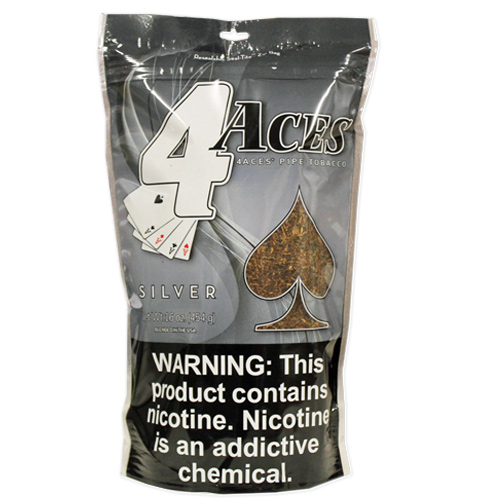 4 Aces Silver Pipe Tobacco 16oz