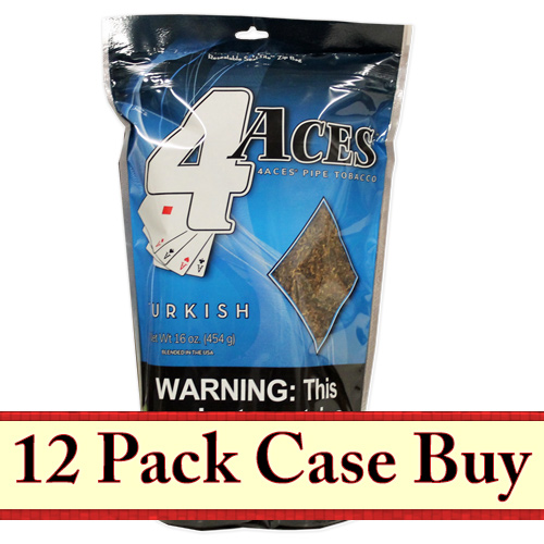 4 Aces Turkish Pipe Tobacco 16oz - 12ct Case