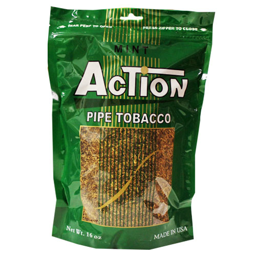 Action Mint Pipe Tobacco 16oz