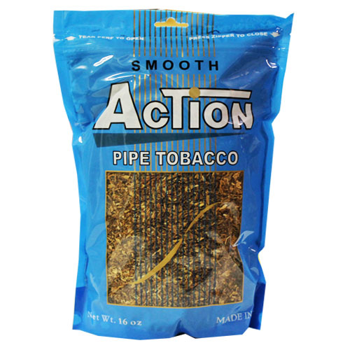 Action Smooth Pipe Tobacco 16oz