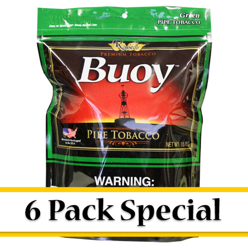 Buoy Green Premium Pipe Tobacco 16oz- 6 Pack Special