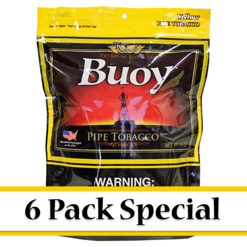 Buoy Yellow Premium Pipe Tobacco 16oz - 6 Pack Special