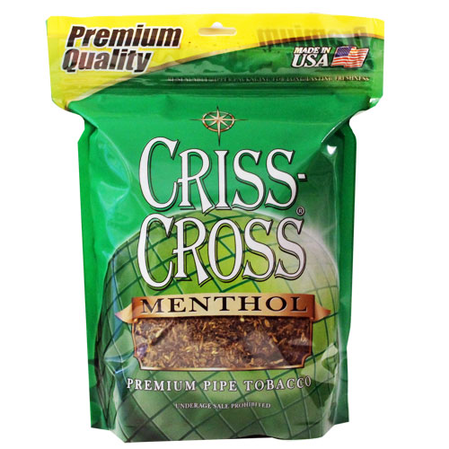 Criss Cross Menthol Pipe Tobacco 16oz Green Bag