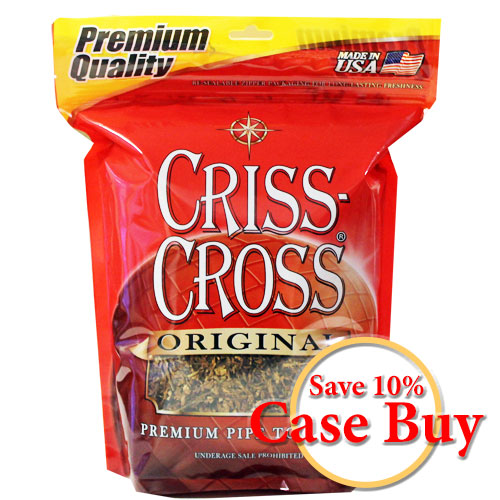 Criss Cross Original Blend Pipe Tobacco 16oz Red Bag - 12ct Case