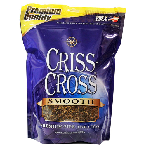 Criss Cross Smooth Blend Pipe Tobacco 6oz Blue Bag