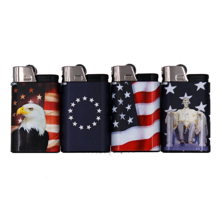 Djeep Lighter Stars And Stripes 4 Pack