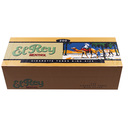 El Rey Menthol King Size Filter Tubes 200ct