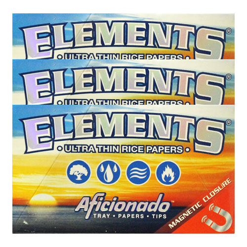 Elements 1 1/4 Aficionado Ultra Thin Rolling Papers 3 Pack