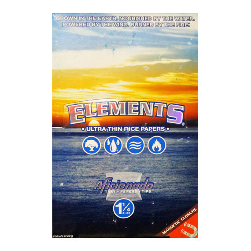 Elements 1 1/4 Aficionado Ultra Thin Rolling Papers 15ct Box