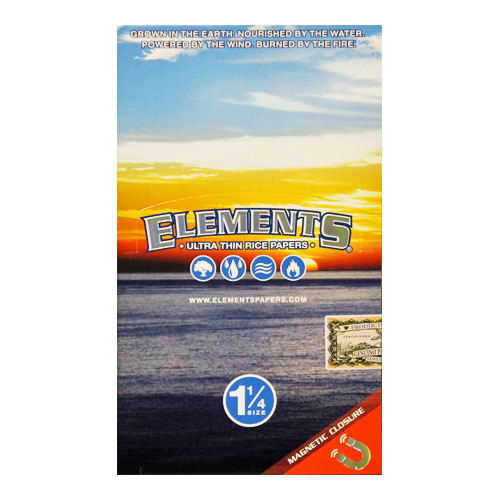 Elements 1 1/4 Ultra Thin Rice Rolling Papers 25ct Box