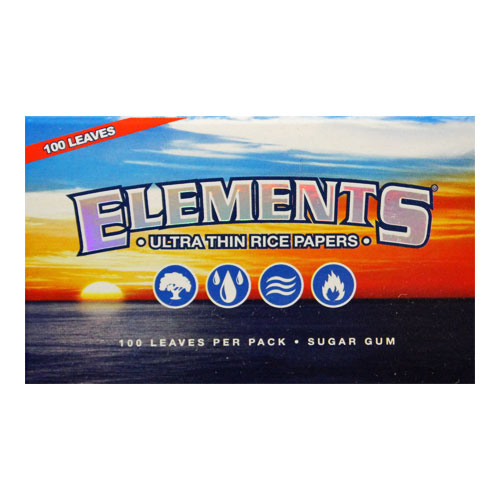 Elements Single Wide Ultra Thin Rice Rolling Papers Single Pack