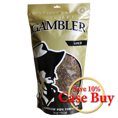 Gambler Gold Pipe Tobacco 16oz - 12ct Case