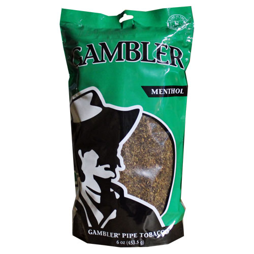 Gambler Menthol Pipe Tobacco 6oz Green Bag