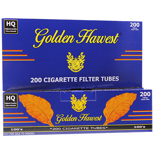 Golden Harvest Blue 100mm Size Filter Tubes 200ct