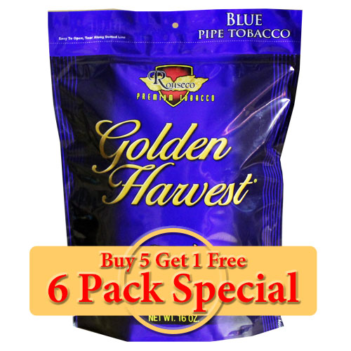 Golden Harvest Blue Pipe Tobacco 16oz *Six Pack* Special