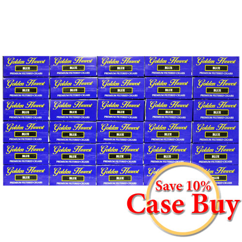 Golden Harvest Blue Premium Filtered Cigars - 30 Ct Case Buy