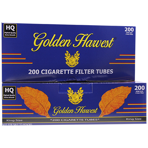 Golden Harvest Blue King Size Filter Tubes 200ct