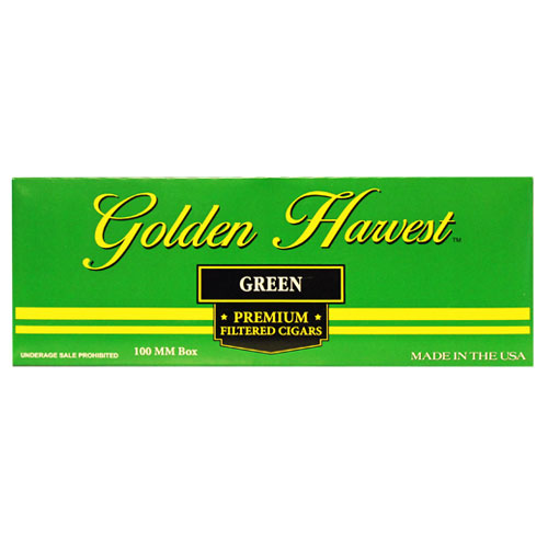 Golden Harvest Green Premium Filtered Cigars 10ct