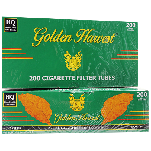 Golden Harvest Green 100mm Size Filter Tubes 200ct