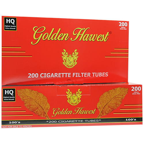 Golden Harvest Red 100mm Size Filter Tubes 200ct