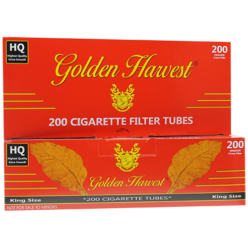 Golden Harvest Red King Size Filter Tubes 200ct