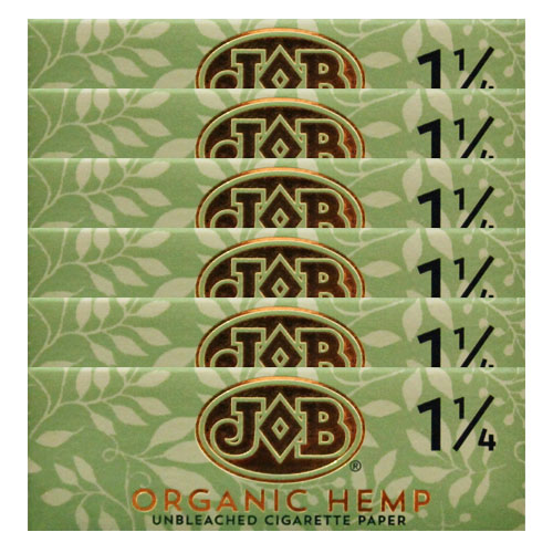 JOB Organic Hemp 1 1/4 Size Rolling Papers 6 Pack
