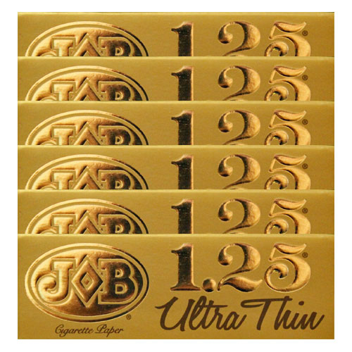 JOB Ultra Thin Gold 1 1/4 Size Rolling Papers 6 Pack