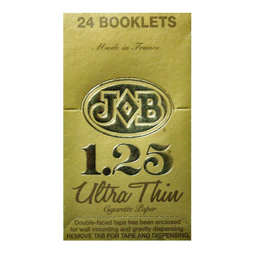 JOB Ultra Thin Gold 1 1/4 Size Rolling Papers 24ct Box