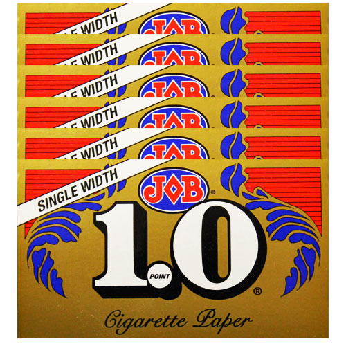 JOB Gold 1.0 Single Wide Size Rolling Papers 6 Pack