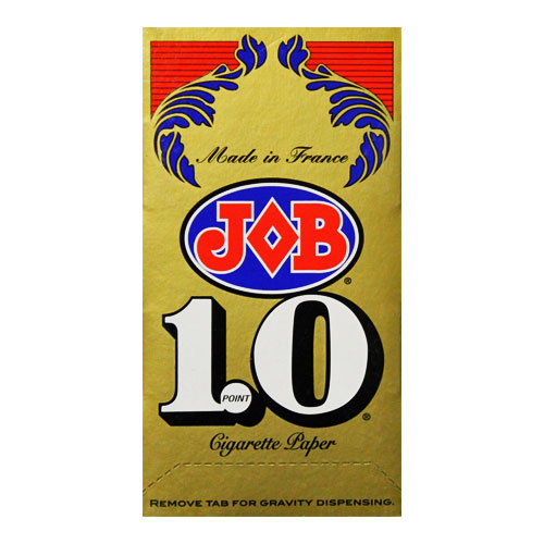 JOB Gold 1.0 Single Wide Size Rolling Papers 24ct Box