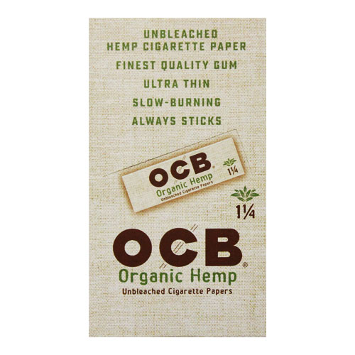 OCB Organic Hemp 1 1/4 Rolling Papers 24ct Box