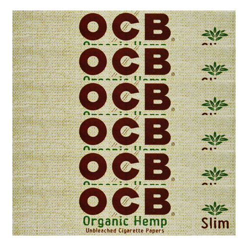 OCB Organic Hemp Slim King Rolling Papers 6 Pack