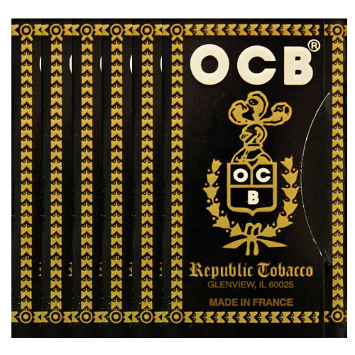 OCB Ungummed Single Wide Rolling Papers 6 Pack