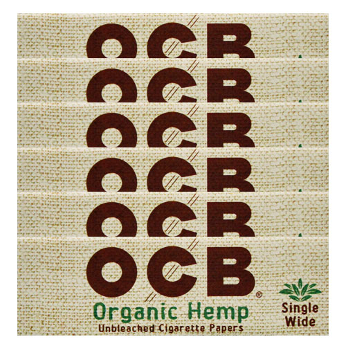 OCB Organic Hemp Single Wide Rolling Papers 6 Pack
