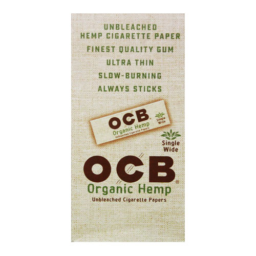 OCB Organic Hemp Single Wide Rolling Papers 24ct Box