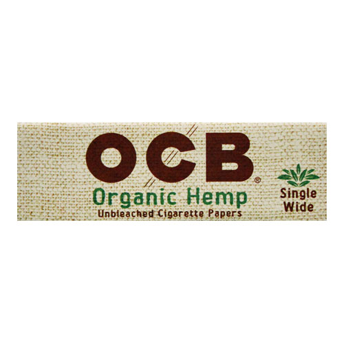 OCB Organic Hemp Single Wide Rolling Papers Single Pack