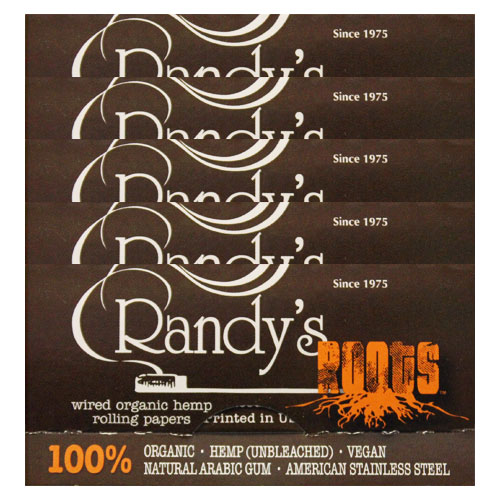 Randy's Wired Roots 77mm Rolling Papers 5 Pack