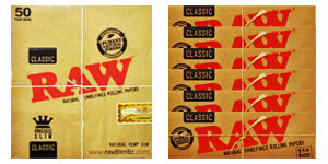 RAW 100% Natural Rolling Papers