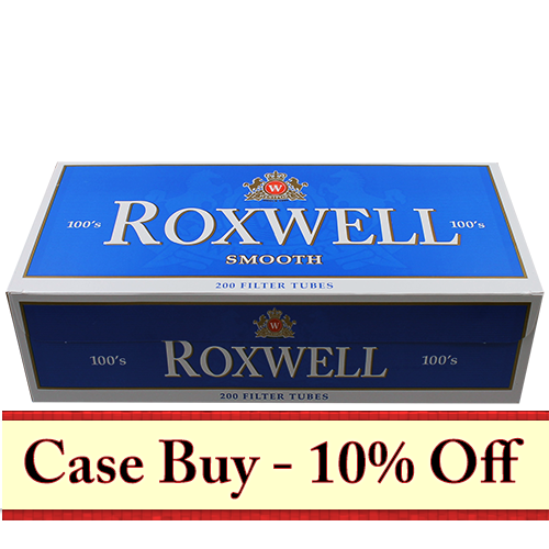 Roxwell Blue 100mm Filter Tubes 200ct - 50ct Case