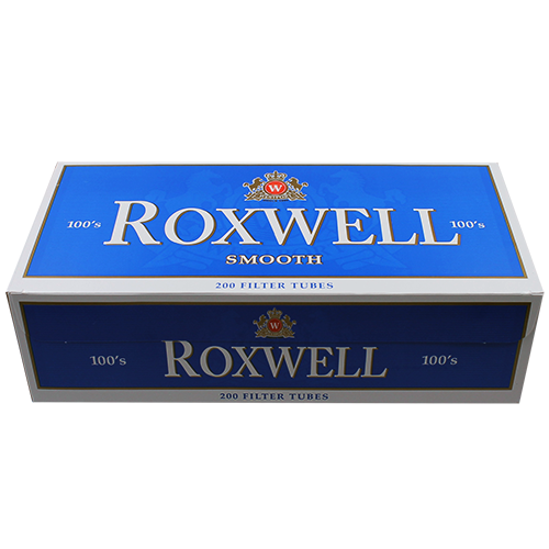 Roxwell Blue 100mm Filter Tubes 200ct