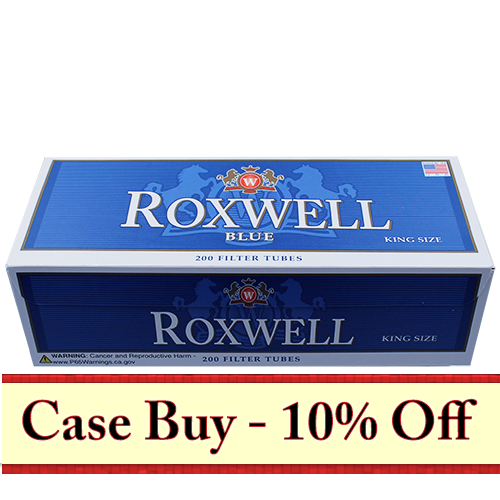 Roxwell Blue King Size Filter Tubes 200ct - 50ct Case