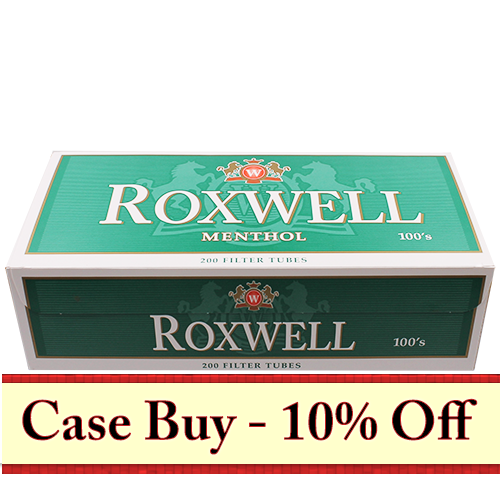 Roxwell Green 100mm Filter Tubes 200ct - 50ct Case