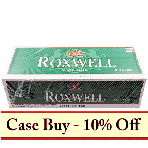 Roxwell Green King Size Filter Tubes 200ct - 50ct Case