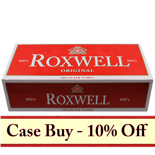 Roxwell Red 100mm Filter Tubes 200ct - 50ct Case