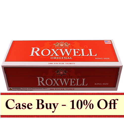 Roxwell Red King Size Filter Tubes 200ct - 50ct Case