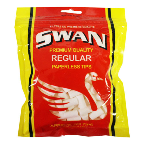 Swan Regular Paperless Tips 200ct Red Bag