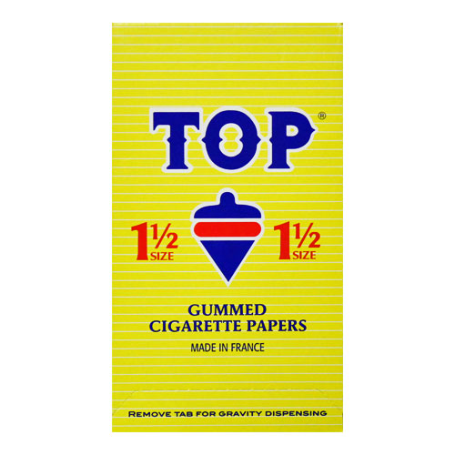 Top 1 1/2 Size Rolling Papers 24ct Box