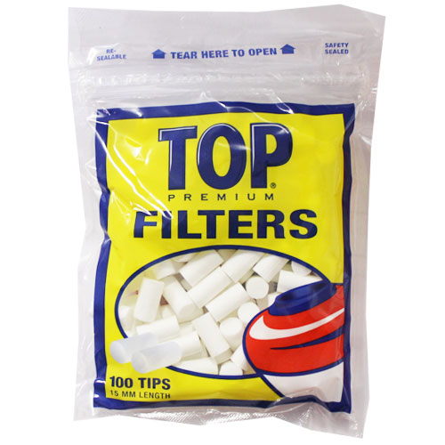 Top Premium Filter Plugs 15mm 100ct